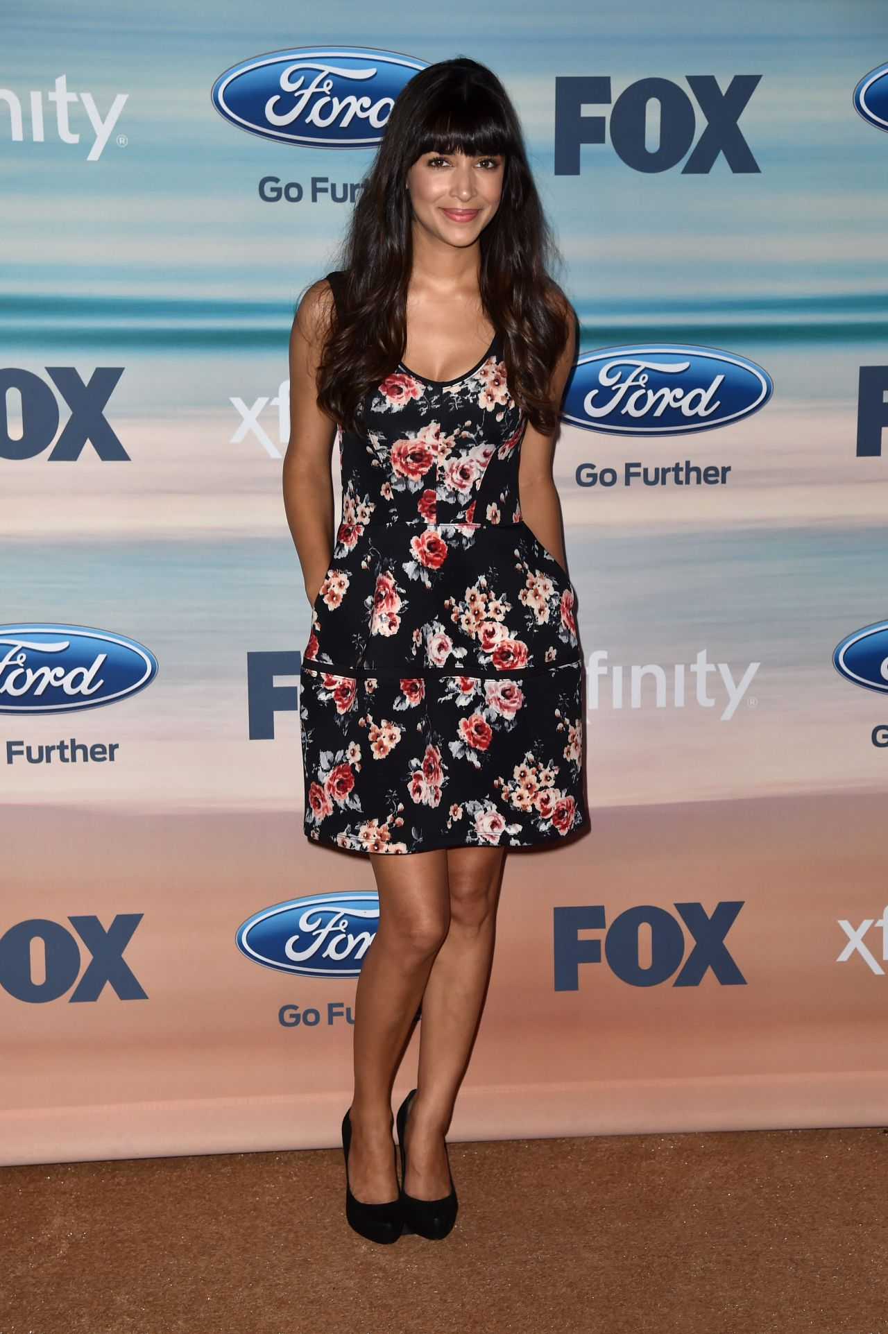 Hannah Simone at 2014 FOX Fall Eco-Casino Party in Santa Monica