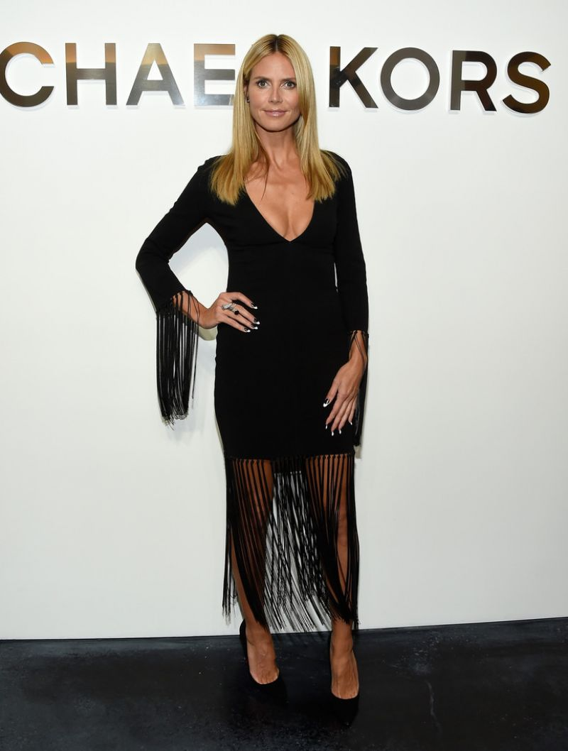 Heidi Klum - Michael Kors Spring 2015 Fashion Show in New York City