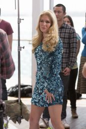 Heidi Montag Filming a Commercial for Sealord in Auckland (New Zealand)