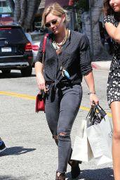 Hilary Duff  Street Style - Shopping in Beverly Hills - September 2014