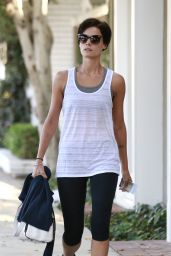 Jaimie Alexander Leaving Alfred Coffee & Kitchen in West Hollywood