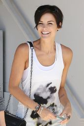 Jaimie Alexander Street Style - Leaving Barneys New York in Beverly Hills - Sept. 2014