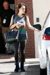 Janel Parrish in Tights at Dancing With The Stars Rehearsal in Los Angeles - September 2014