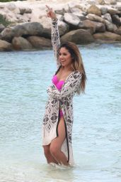 Jasmine Villegas in a Bikini Filming a Music Video at the Beach in Aruba - Sep 2014