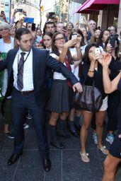 Jennifer Aniston Leaving Variety Studio at Holt Renfrew in Toronto - September 2014