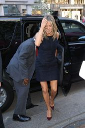 Jennifer Aniston Leaving Variety Studio at Holt Renfrew in Toronto - September 2014