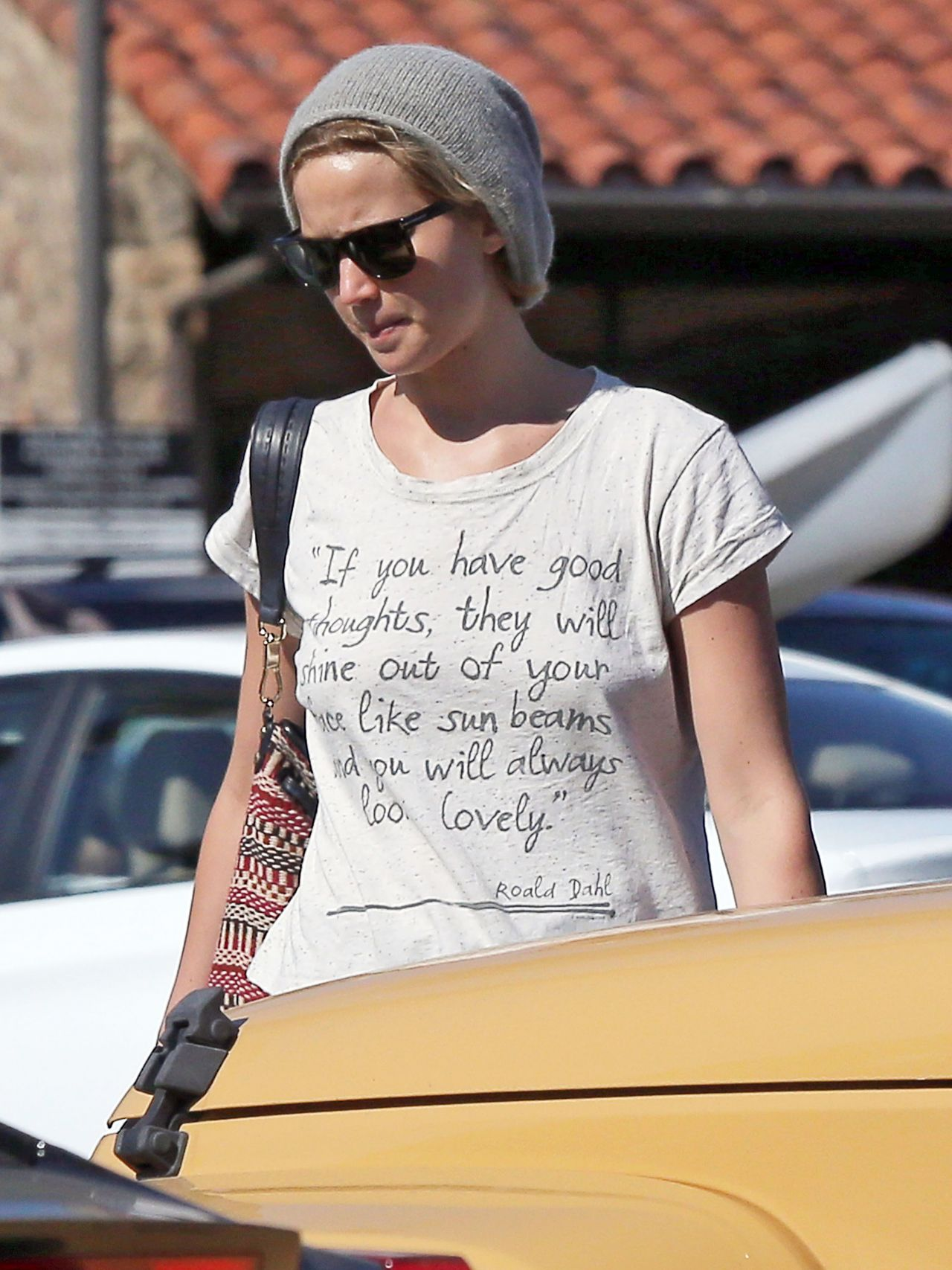 Jennifer Lawrence in Jeans Shorts Out in Los Angeles ...