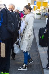 Jennifer Lopez Street Style - JFK Airport in NYC - September 2014