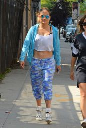 Jennifer Lopez Street Style - Out in New York City - September 2014