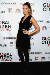 Jessica Alba - 2014 Global Citizen Festival VIP Lounge in New York City