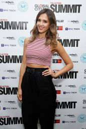 Jessica Alba at Global Citizen Festival in New York City, September 2014
