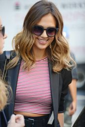 Jessica Alba Casual Style - Leaving the Trump Soho Hotel in NYC - September 2014