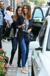 Jessica Alba in Tight Jeans - Out in New York City - September 2014