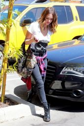 Jessica Alba Street Style - Heads to the Office in Santa Monica - September 2014