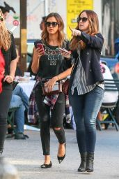 Jessica Alba Street Style - Out in NYC - Sept. 2014