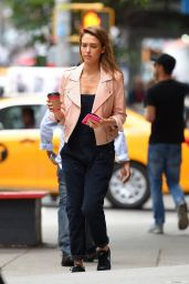 Jessica Alba Street Style - Out in NYC, September 2014
