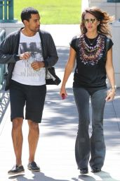 Jessica Alba Street Style - Out in Santa Monica, September 2014