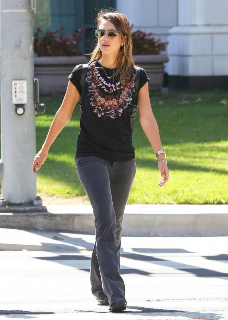 Jessica Alba Street Style Out In Santa Monica September