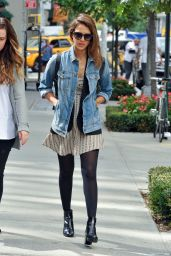 Jessica Alba Street Style - Out in Soho in New York City - September 2014