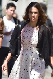 Jessica Alba Style - Out in New York City - September 2014