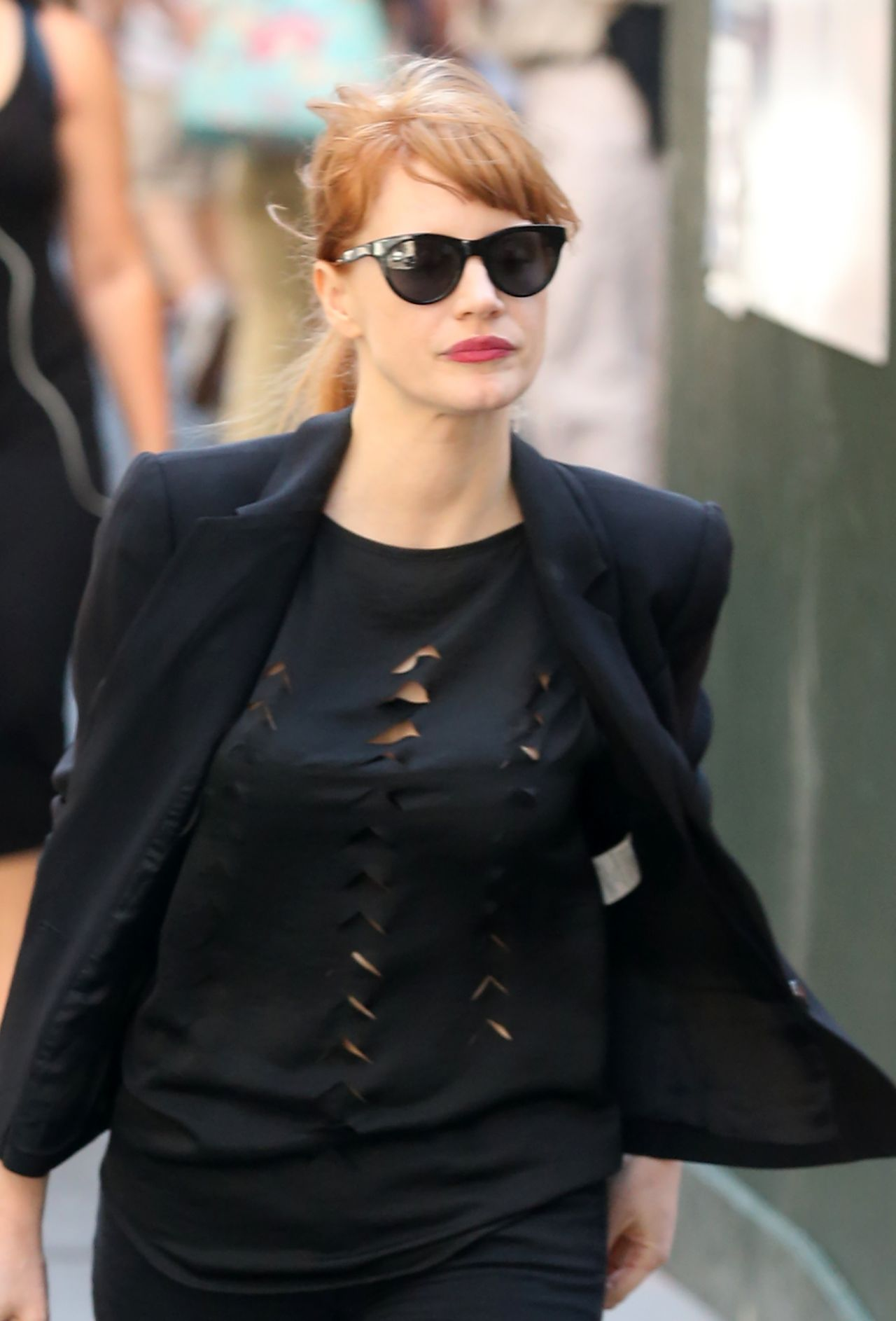 Jessica Chastain Out New York City - August 2014