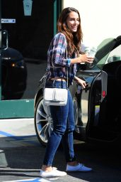 Jessica Lowndes in Jeans - Out in Los Angeles - September 2014