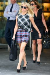 Jessica Simpson in All Plaid - Out in New York City - September 2014