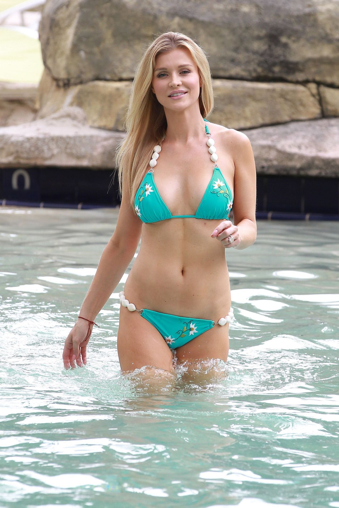 Joanna Krupa Bikini Photos - at a pool in Fort Lauderdale - August 2014