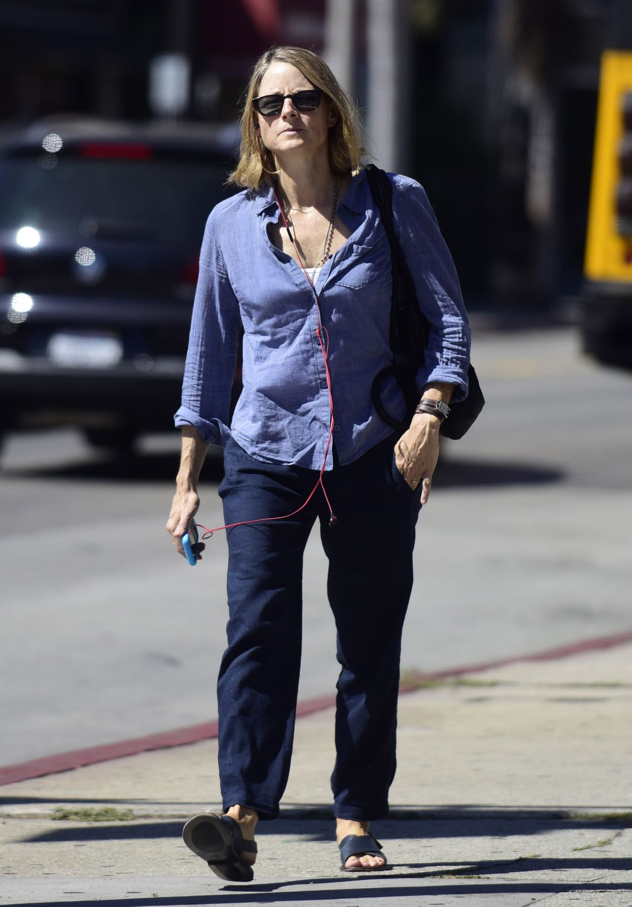 Jodie Foster Street Style - Out in West Hollywood, September 2014