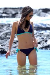 Jordana Brewster in a Bikini at a Beach in Hawaii - August 2014