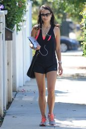 Jordana Brewster Leggy - Out in West Hollywood - September 2014