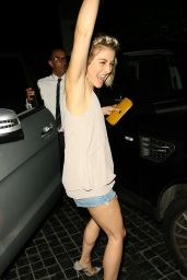 Julianne Hough in Cutoffs - Leaving Cecconie