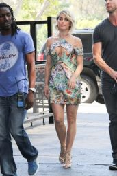 Julianne Hough on the Set of