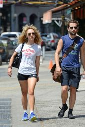 Juno Temple Heading to the Gym in Soho in New York City - September 2014