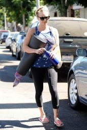 Kaley Cuoco in Cycle Pants - Leaving Yoga Class in Sherman Oaks - September 2014