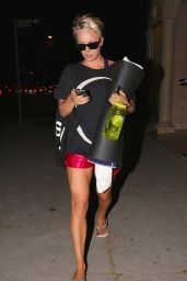 Kaley Cuoco - Leaving a Night Yoga Slass in Sherman Oaks - September 2014