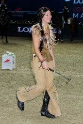 Kaley Cuoco - Riding Her Horse at 2014 Longines Los Angeles Masters Charity Pro-Am