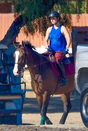 Kaley Cuoco Riding Her Horse in Simi Valley - September 2014