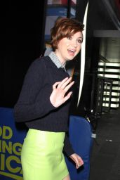 Karen Gillan in Mini Skirt at