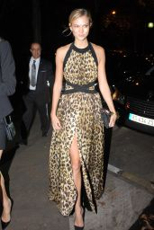Karlie Kloss Night Out Style - Paris, September 2014