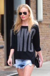 Kate Bosworth - Leggy in Cutoffs - Leaving Her Hotel in New York City - September 2014