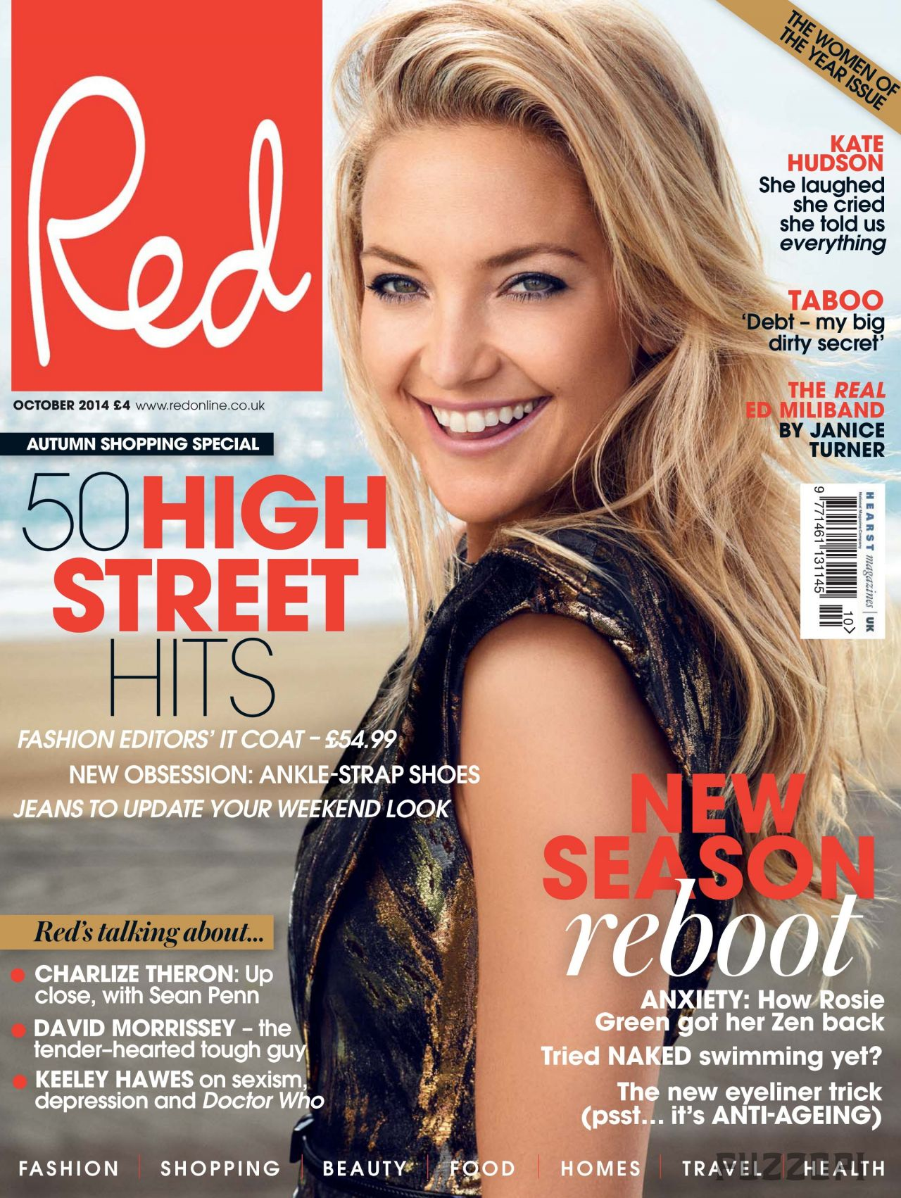 Kate Hudson - Red Magazine (UK) - October 2014 Cover