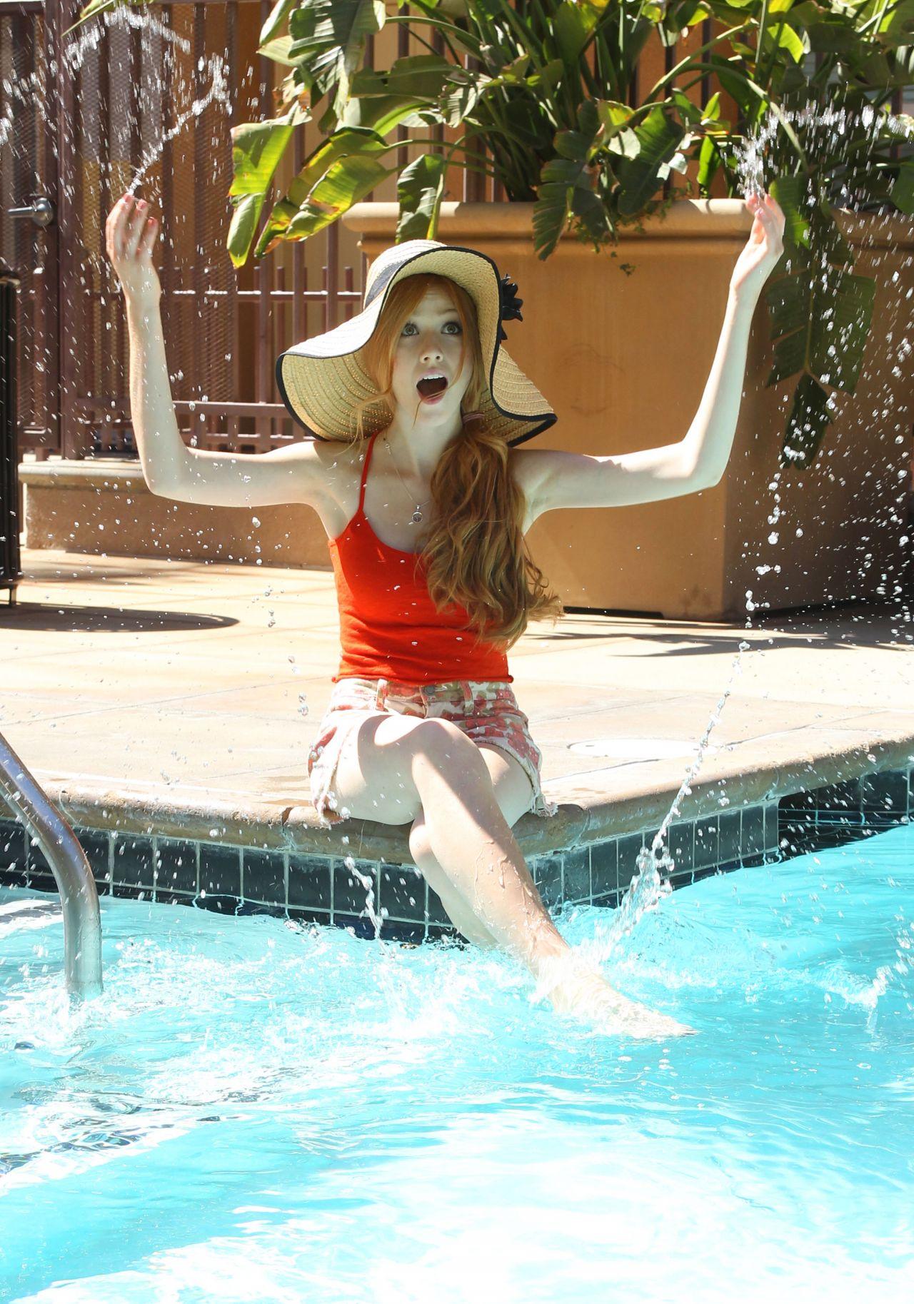 Katherine Mcnamara Photoshoot By A Pool In Los Angeles