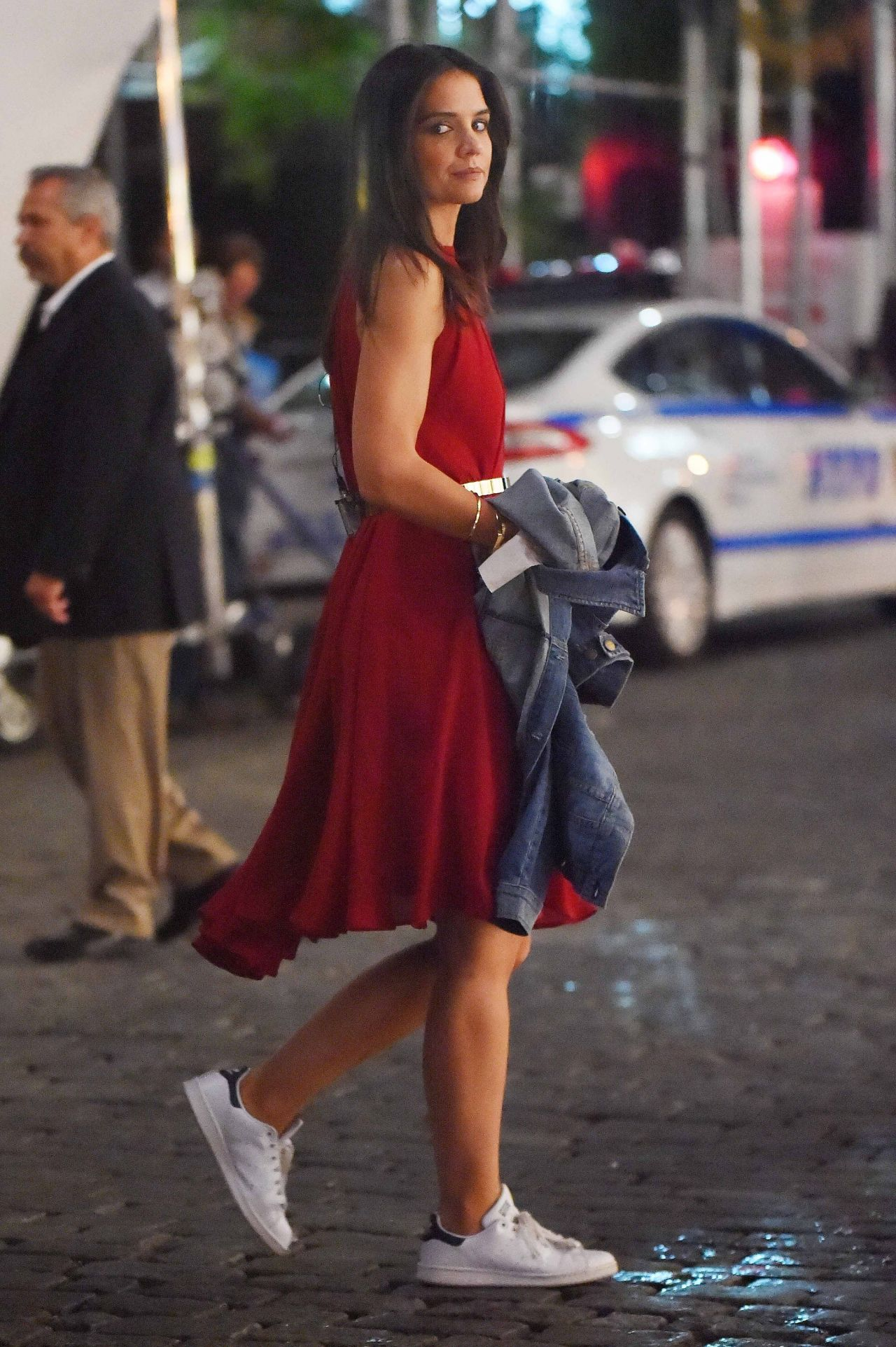 Katie Holmes - Filming a Commercial in New York City - September 2014