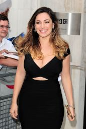 Kelly Brook Arriving at BBC Radio Two in London - Sep 2014