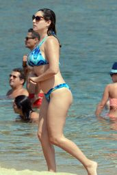 Kelly Brook Bikini Candids - on a Beach in Mykonos (Greece) - September 2014