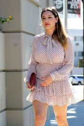 Kelly Brook Hot in Mini Dress - Out in Hollywood, September 2014