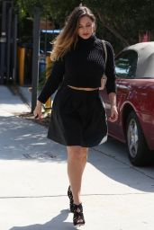 Kelly Brook in All Black - Out in Los Angeles, September 2014