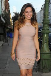 Kelly Brook Leaving Her Hotel and Going to Radio 1 BBC Studio - September 2014