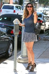 Kelly Brook Leggy in Mini Skirt - Out in Beverly Hills, September 2014